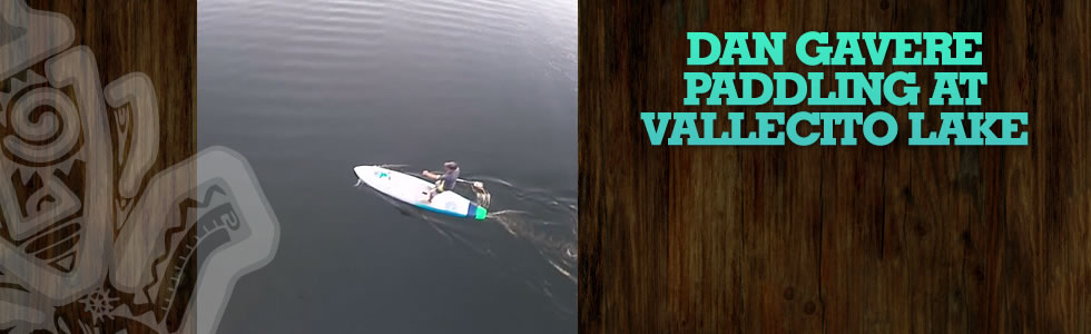 Dan Gavere paddling at Vallecito Lake